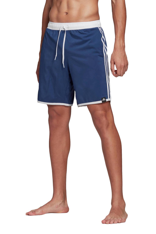 adidas Performance zwemshort 3-Stripes blauw, Blauw / Wit