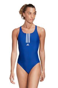 adidas Performance Infinitex sportbadpak Mid 3-Stripes blauw, Blauw/wit