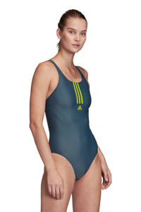 adidas Performance sportbadpak Mid 3-Stripes grijs, Grijs/geel