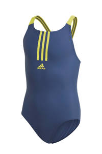 adidas Performance sportbadpak blauw, Blauw / geel