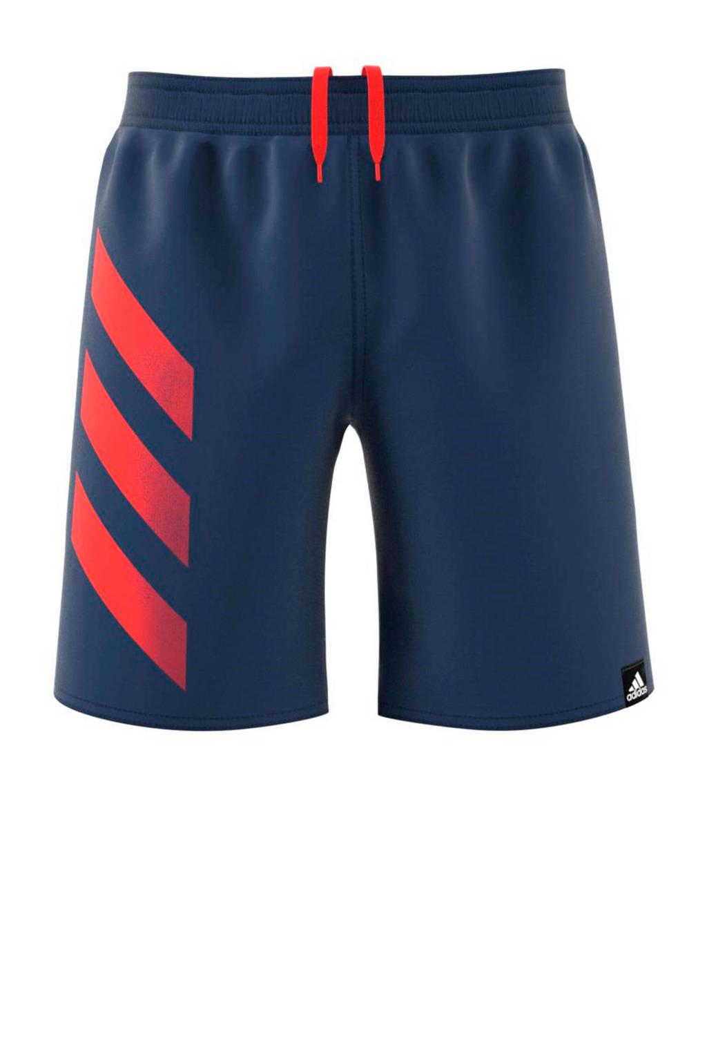 adidas Performance zwemshort blauw, Blauw / Rood