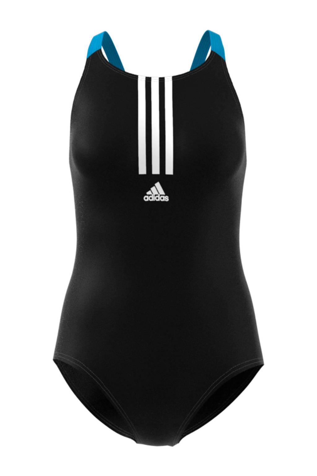 adidas sportbadpak zwart, Zwart / Blauw