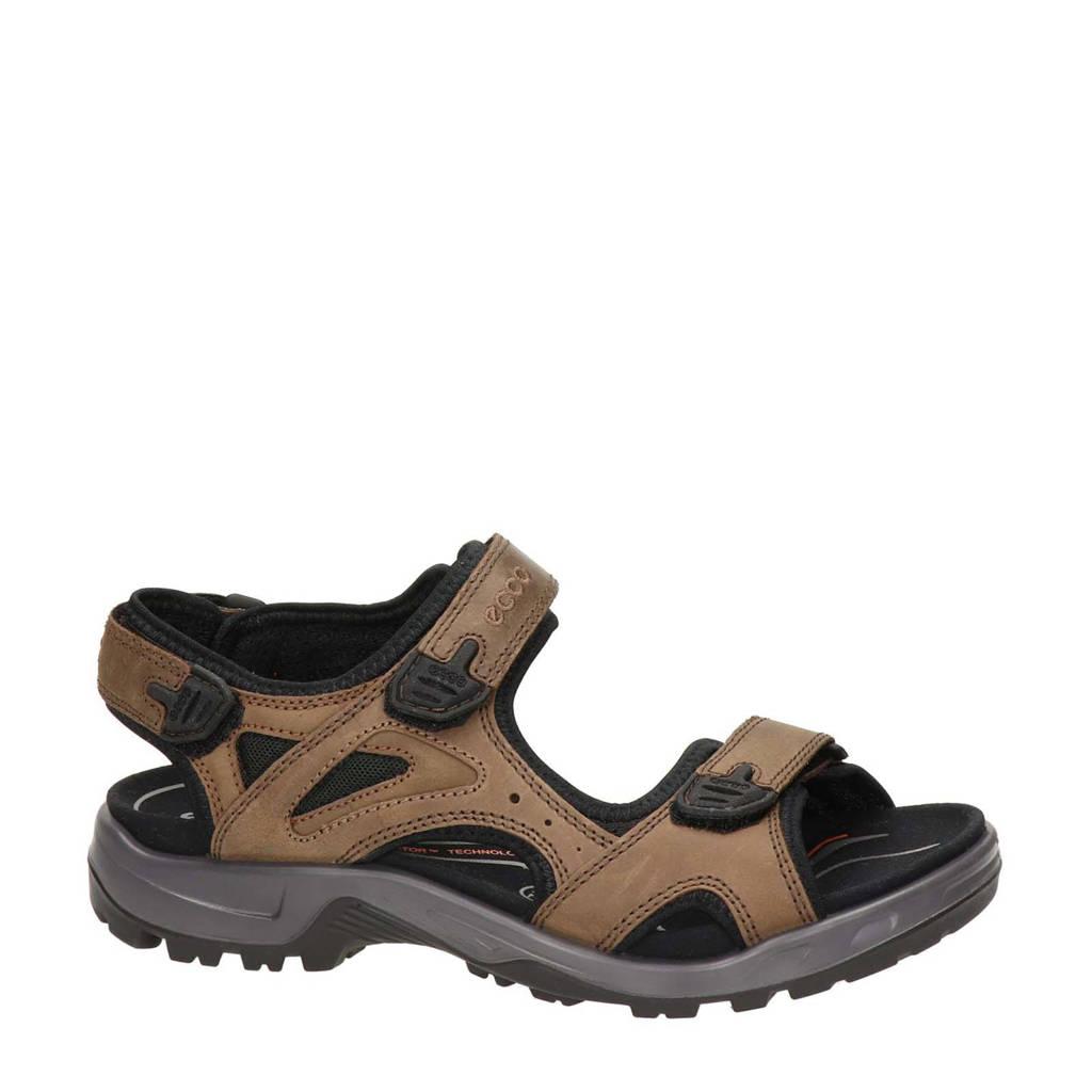 Ecco Offroad  leren outdoor sandalen bruin, Bruin