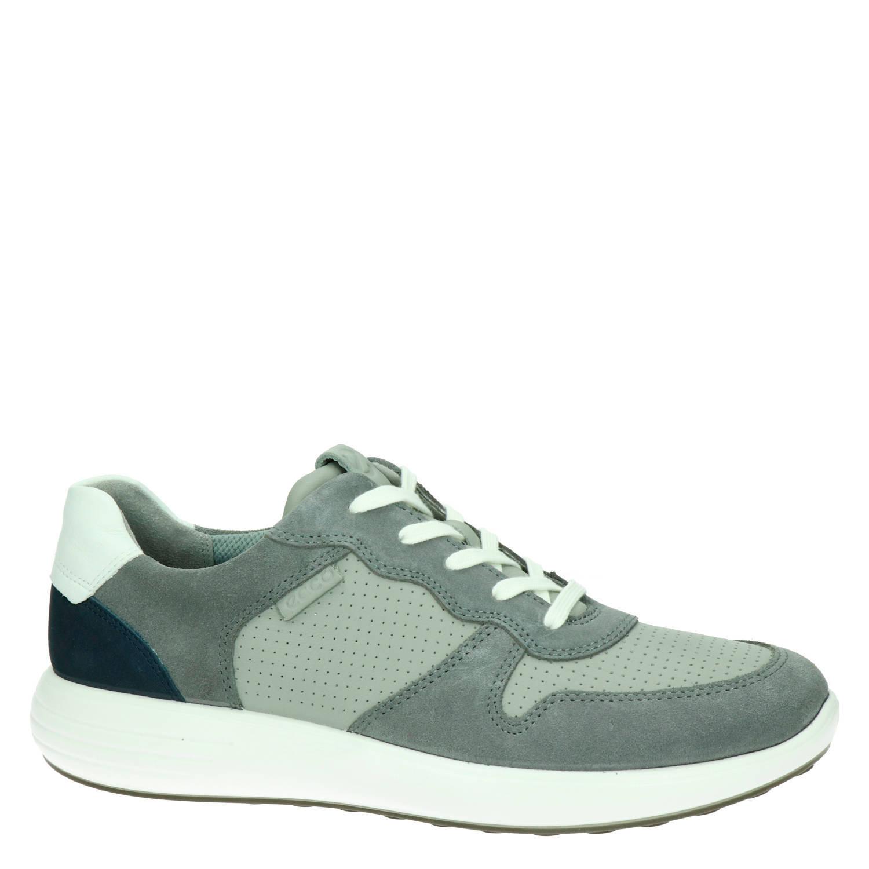 Ecco Soft 7 Runner leren sneakers grijs | wehkamp