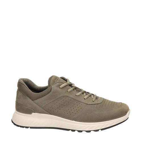 Ecco Exostride nubuck sneakers groen