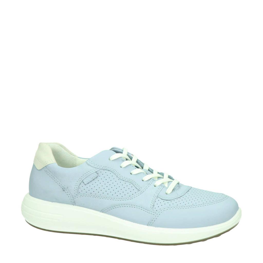 Ecco Soft 7 Runner  leren sneakers lichtblauw, Lichtblauw