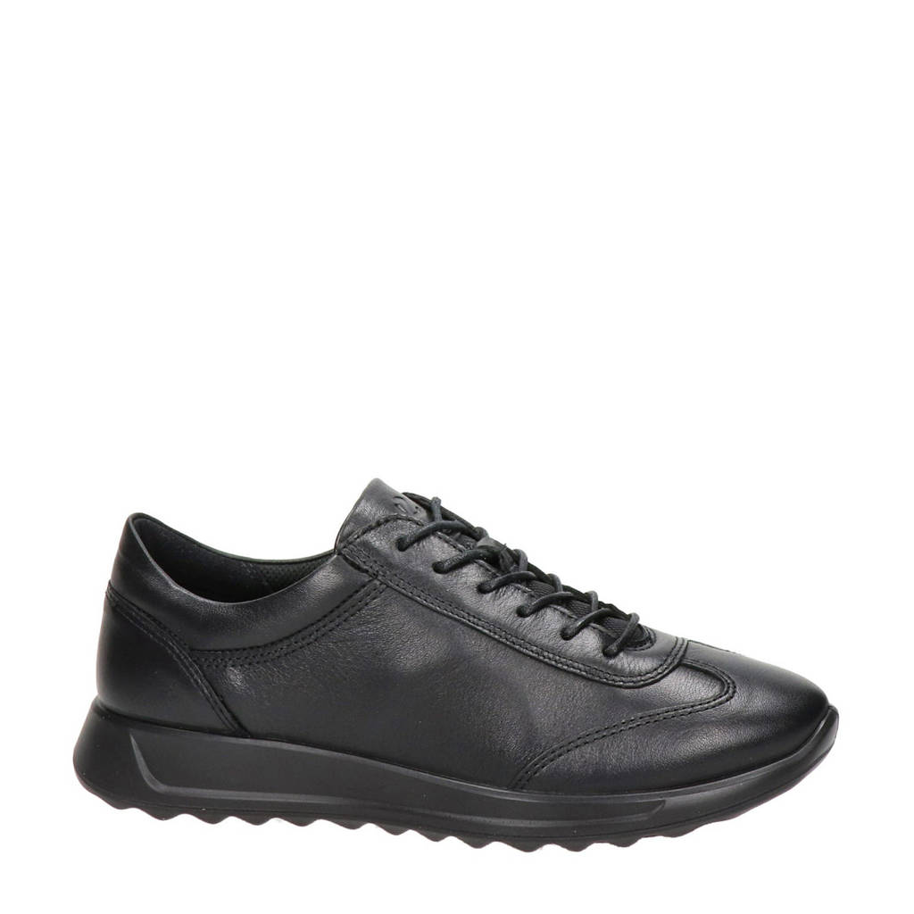Ecco Flexure Runner comfort leren veterschoenen zwart, Zwart