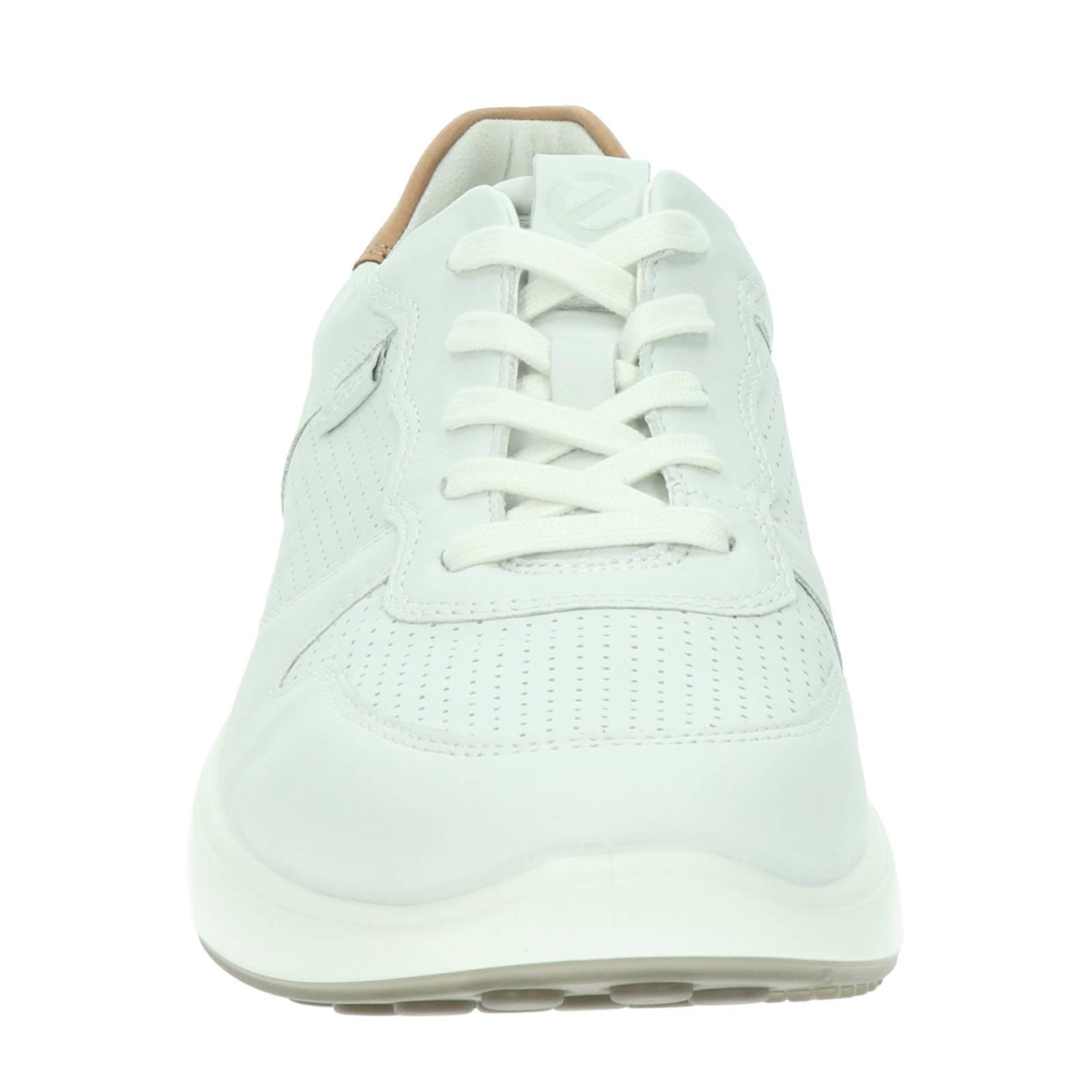 Ecco Soft 7 Runner leren sneakers wit | wehkamp