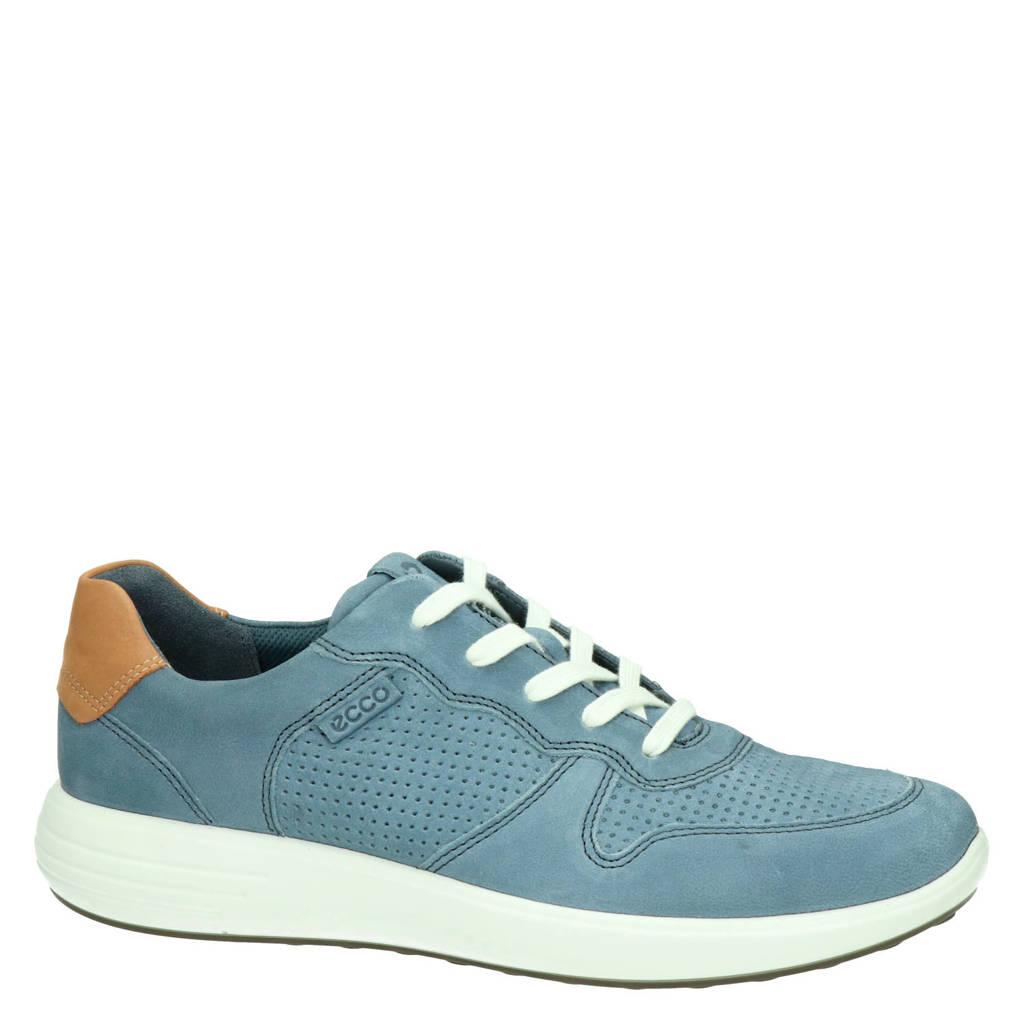 Ecco Soft 7 Runner  nubuck sneakers grijsblauw, Grijsblauw