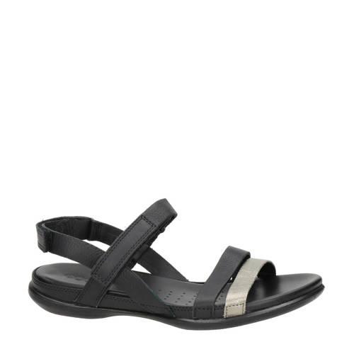 Ecco Flash leren sandalen zwart