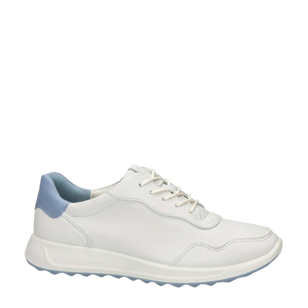 Ecco Flexure Runner  leren sneakers zwart/roze, Wit/blauw