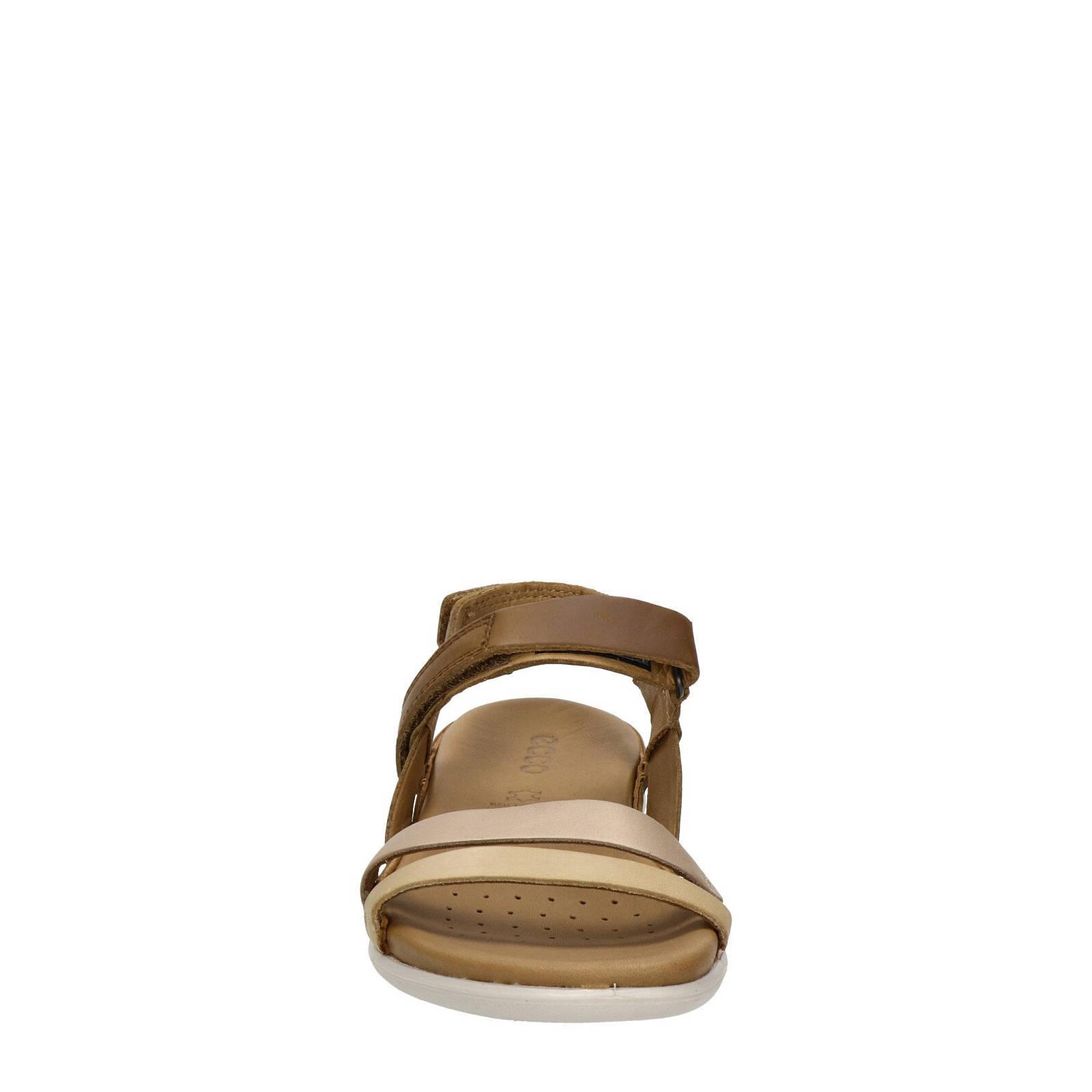 Ecco Flash leren sandalen bruin | wehkamp