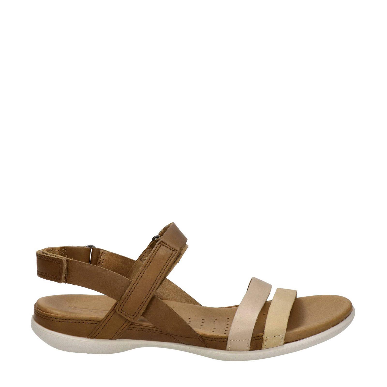 Flash leren sandalen bruin
