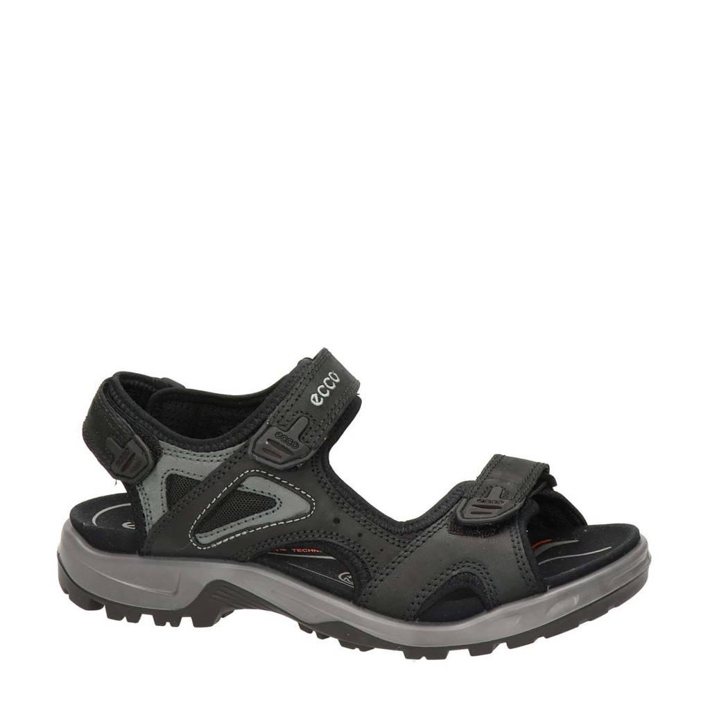 Ecco Offroad  leren outdoor sandalen zwart, Zwart