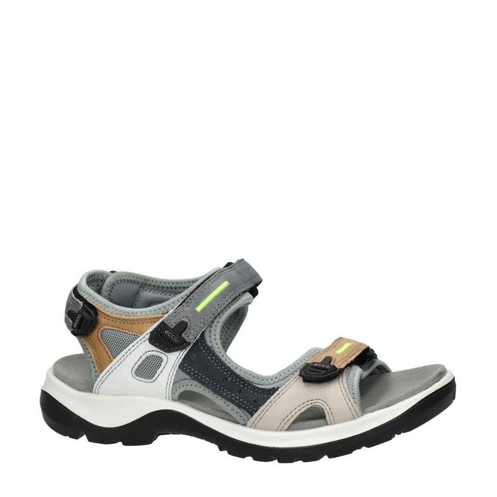 Ecco Offroad  leren outdoor sandalen grijs/multi, Licht grijs