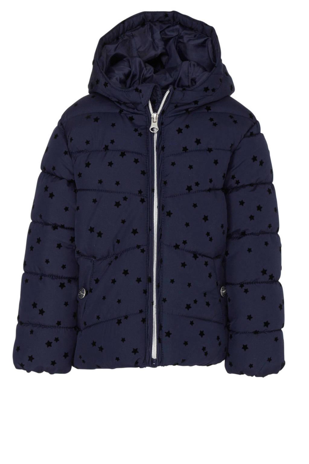 C&A Palomino winterjas met sterren donkerblauw, Donkerblauw