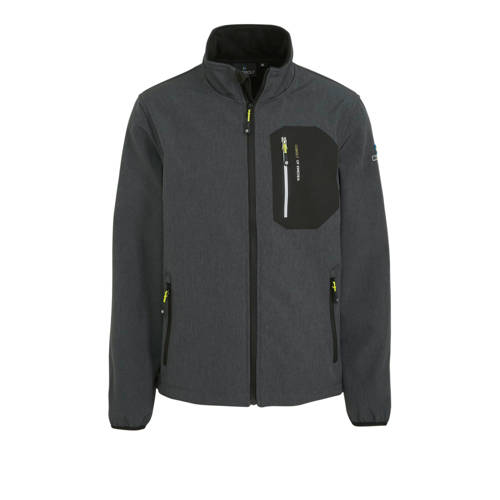 Cobolt softshell outdoor jas grijs