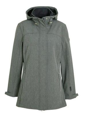 softshell outdoor jas grijs melange