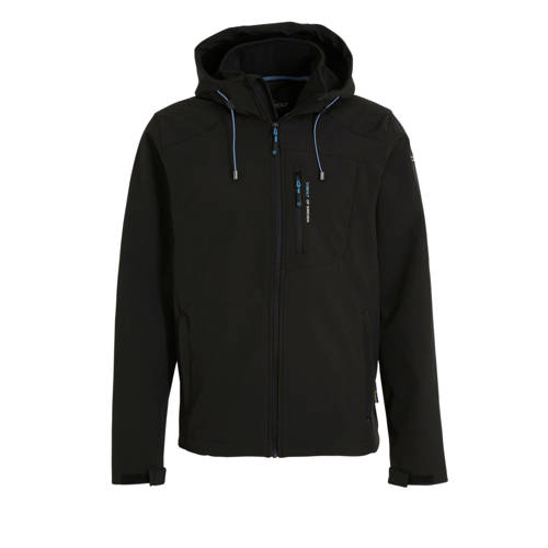 Cobolt softshell outdoor jas zwart