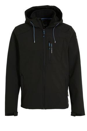 softshell outdoor jas zwart