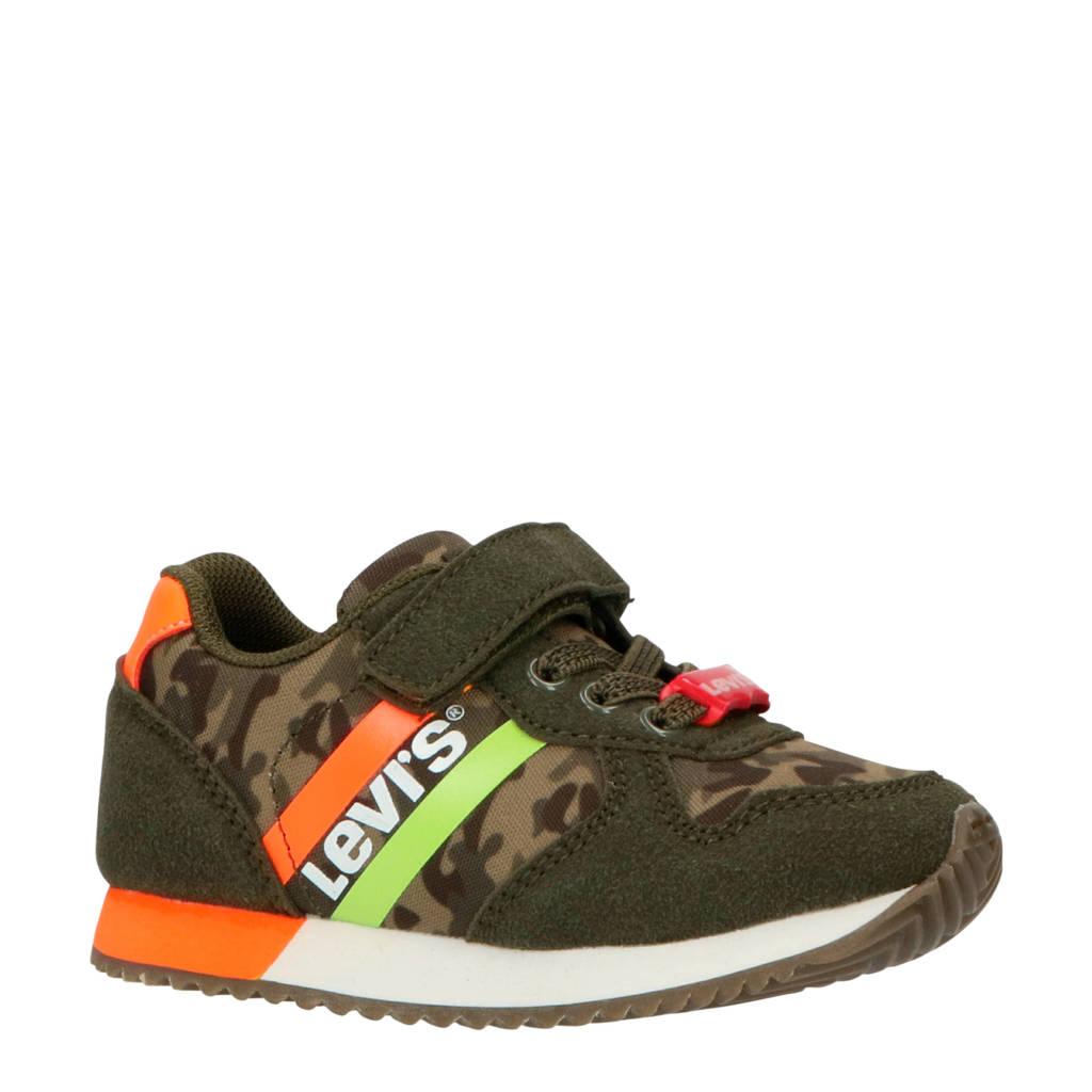 Levi's Kids Springfield Mini sneakers kaki/oranje, Groen/oranje