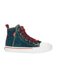 Levi's Kids New Original Hi  hoge sneakers denim, Blauw/rood
