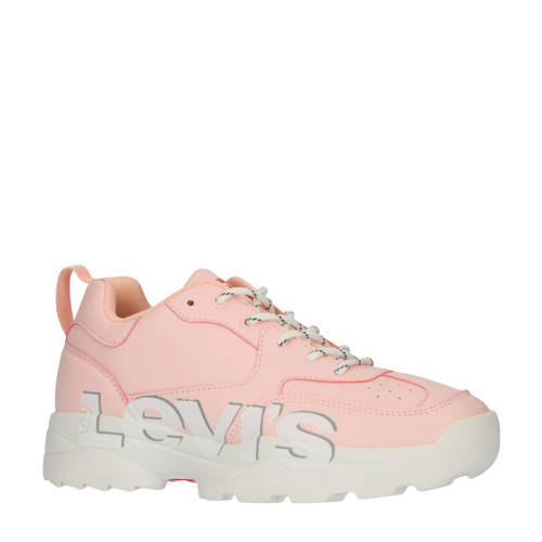 Levi's Kids Tribeca T chunky sneakers lichtroze