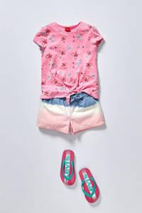 Levi's Kids Virginia K  teenslippers roze/mintgroen, Roze/mintgroen