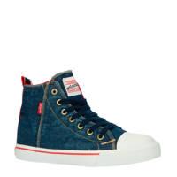 Levi's Kids New Original Hi  hoge sneakers denim, Blauw/denim