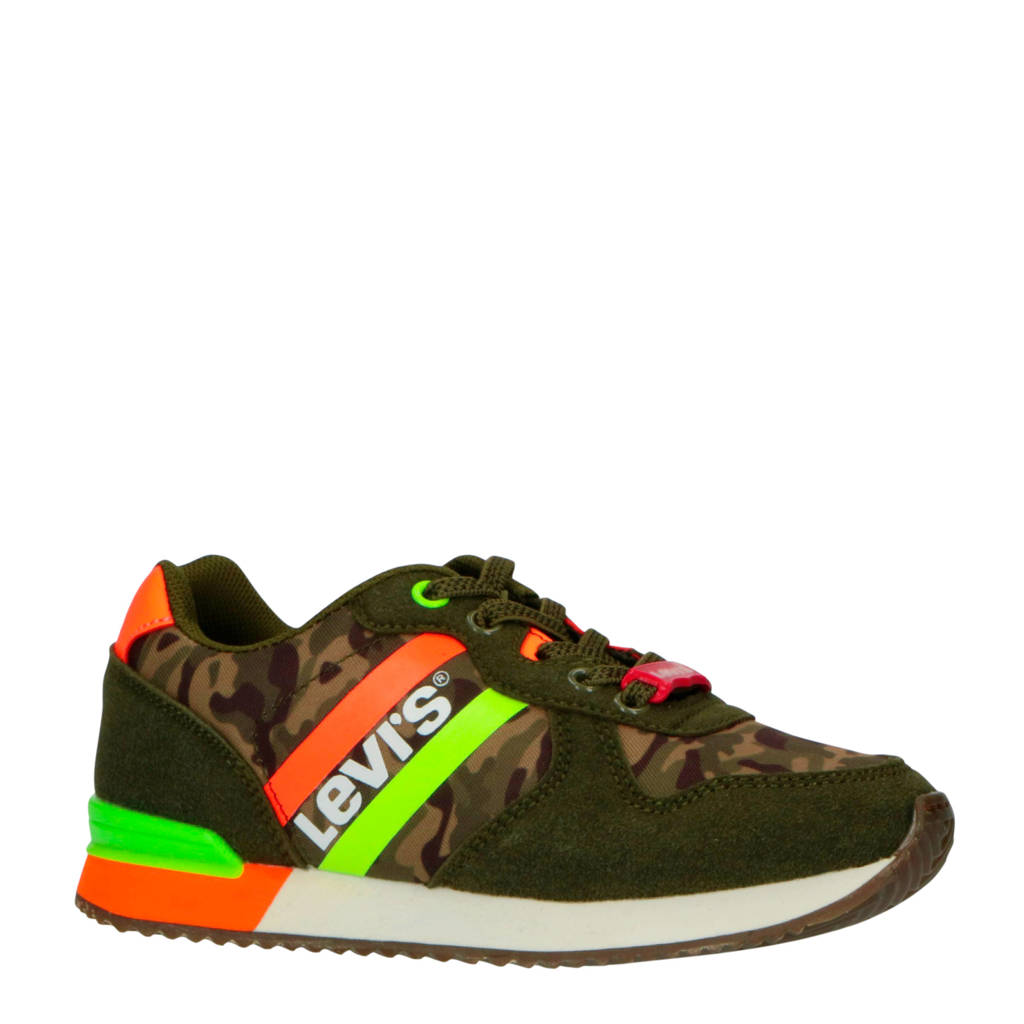 Levi's Kids Springfield K sneakers groen, Groen/oranje