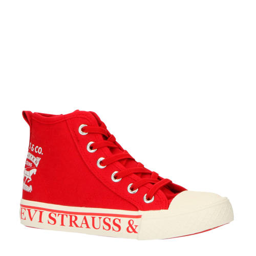 Levi's Kids Maui 2H Hi hoge sneakers rood