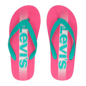 Levi's Kids Virginia T  teenslippers roze/mintgroen