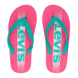 Levi's Kids Virginia Tiener teenslippers roze/mintgroen