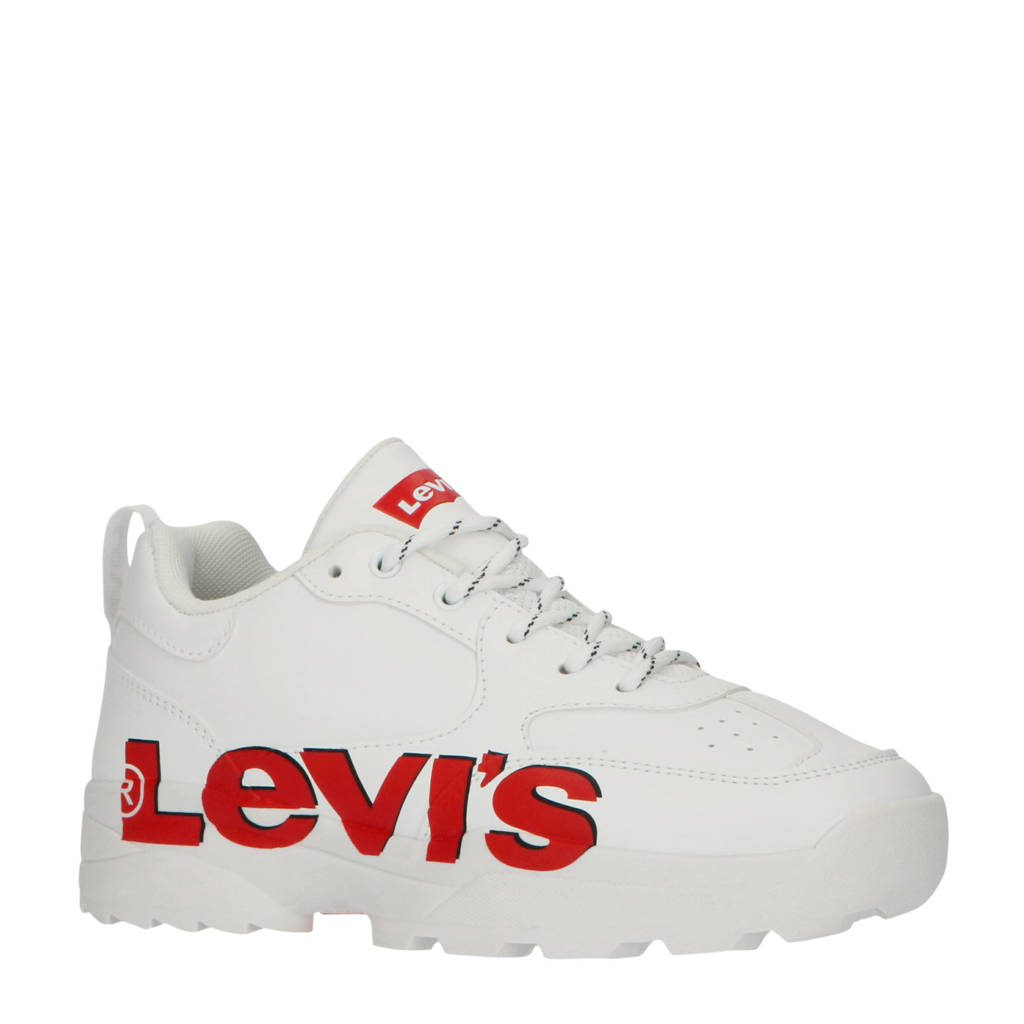 Levi's Kids Tribeca T  chunky sneakers wit/rood, Wit/rood