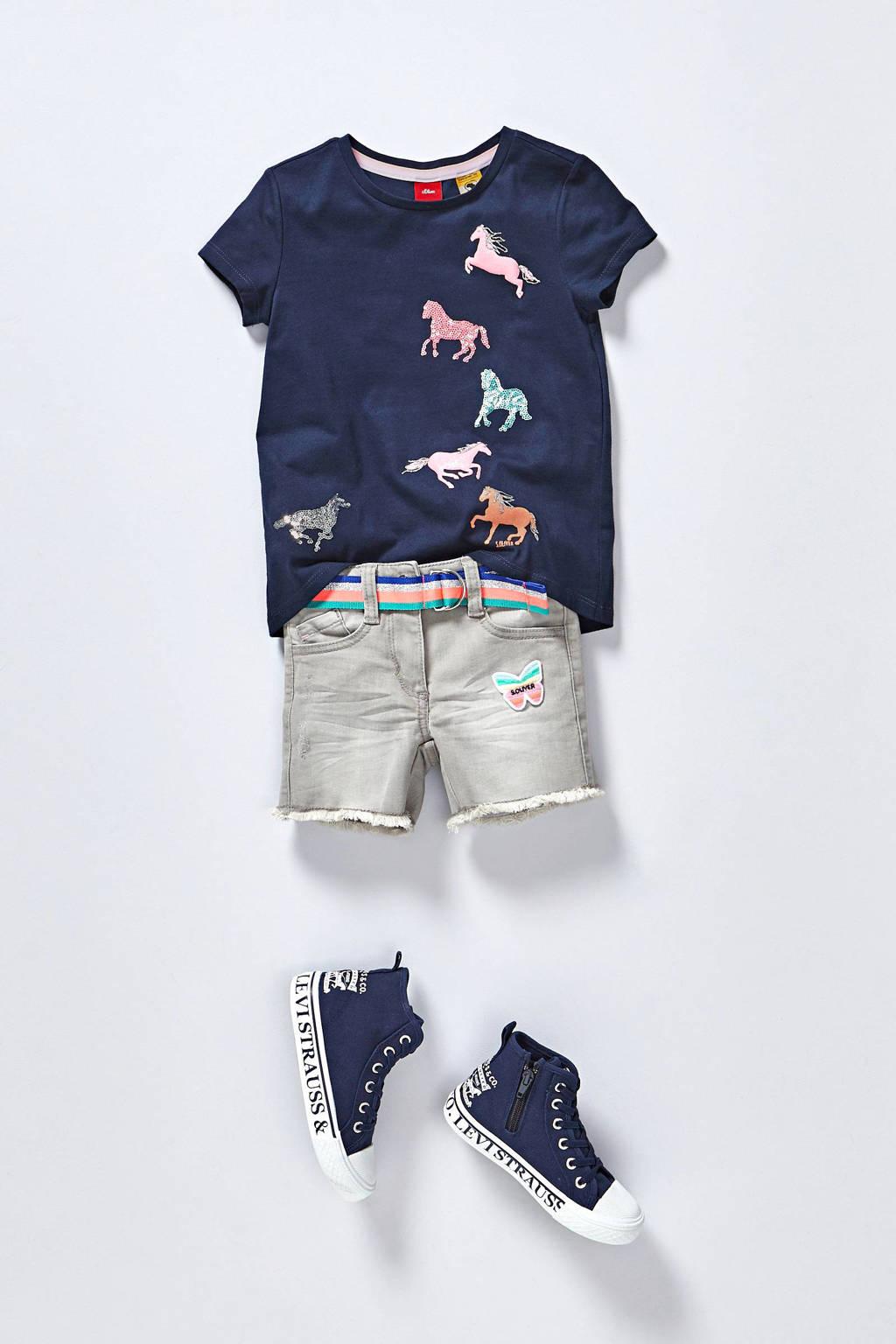 Levi's Kids Maui 2H Hi  hoge sneakers donkerblauw, Donkerblauw/wit