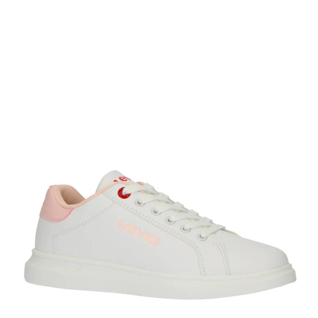 Levi's Kids Ellis T sneakers wit/roze, Wit/roze
