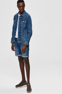 SELECTED HOMME regular fit jeans short blauw, Blauw
