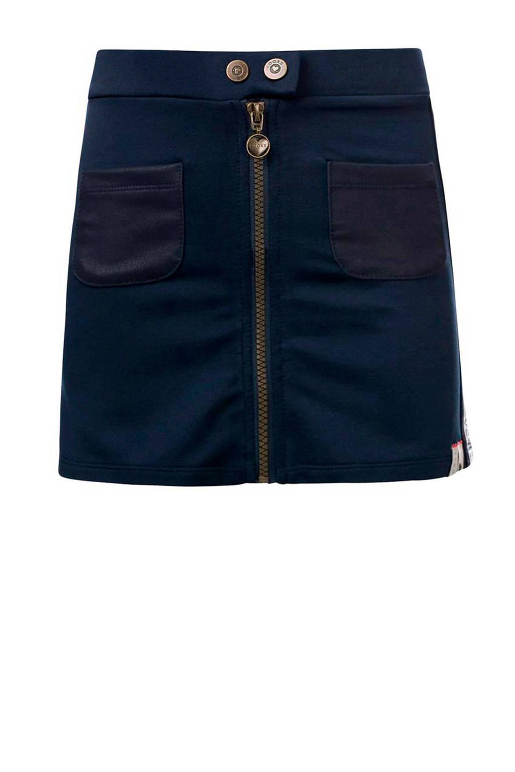 LOOXS rok met contrastbies donkerblauw, Donkerblauw