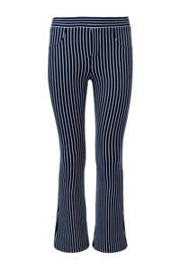 LOOXS gestreepte flared broek donkerblauw/wit, Donkerblauw/wit