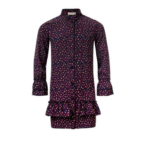 LOOXS blousejurk met all over print en volant paar
