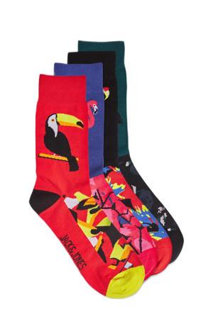 sokken set van 4 paar blauw