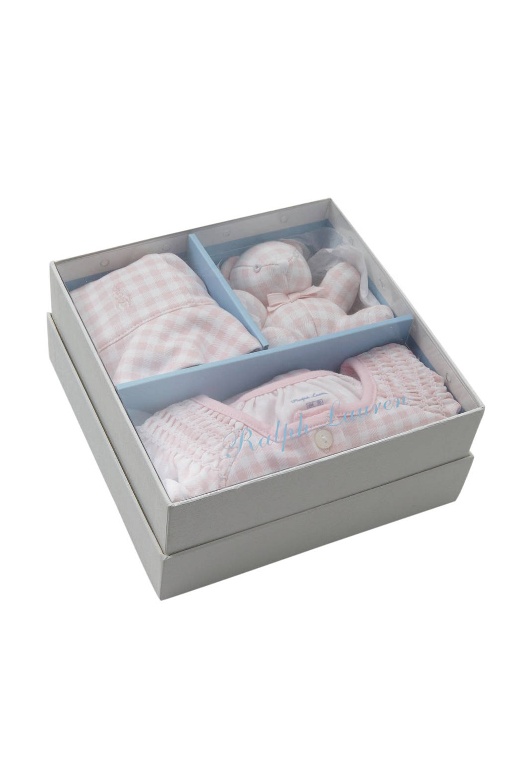 POLO Ralph Lauren giftbox met boxpak roze/wit, Roze/wit