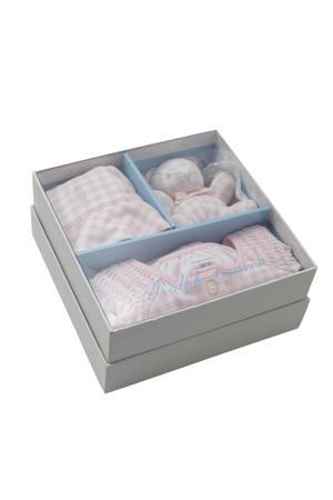 giftbox met boxpak roze/wit