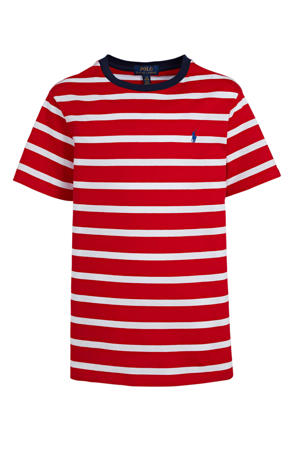 gestreept T-shirt rood/wit/blauw