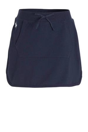 rok met logo en borduursels marine/wit