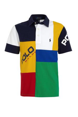 polo met all over print geel/wit/groen