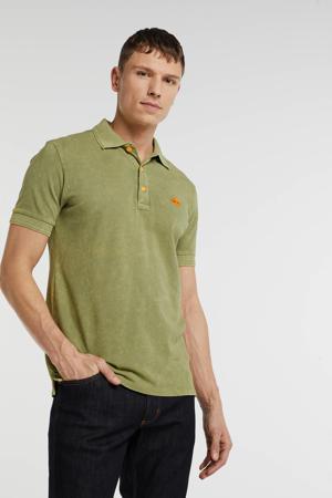regular fit polo met logo groen