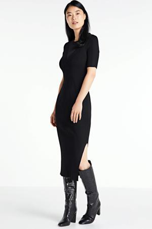 semi-transparante jurk Gigi  met textuur zwart