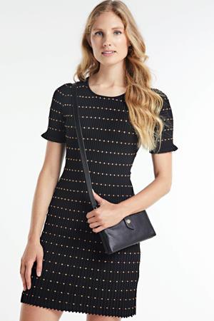 gestreepte jersey jurk Jomy zwart