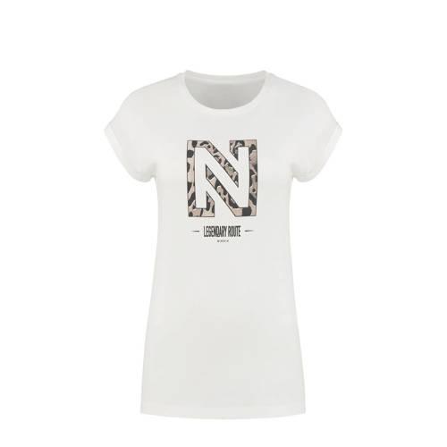 NIKKIE T-shirt Legendary met logo wit